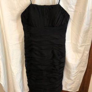 Black knee length cocktail/bridesmaid dress